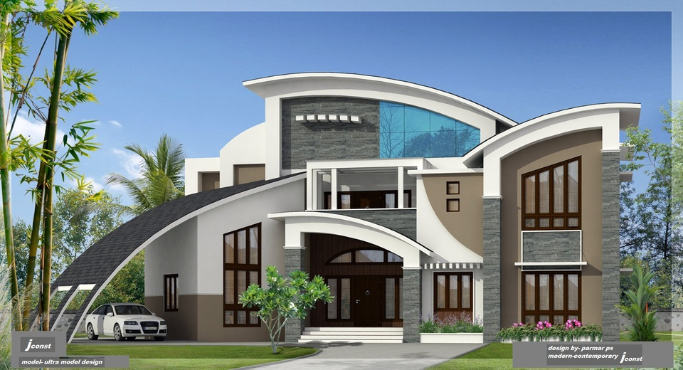 Unique House Design 3D CAD Model GrabCAD