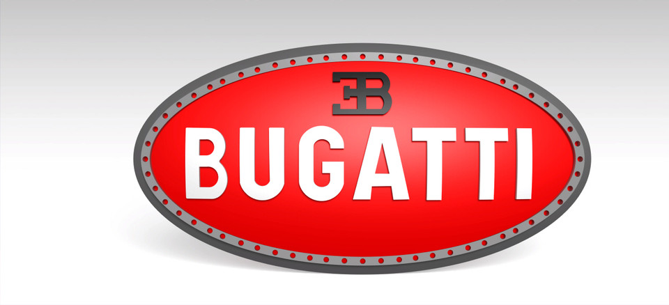 bugatti logo 3d cad
