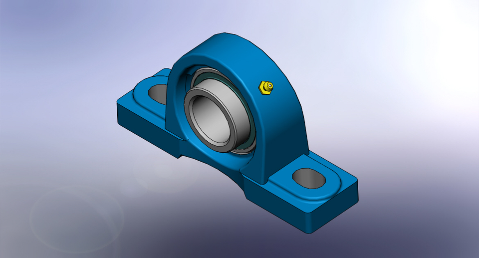 pillow block bearing 3d cad model