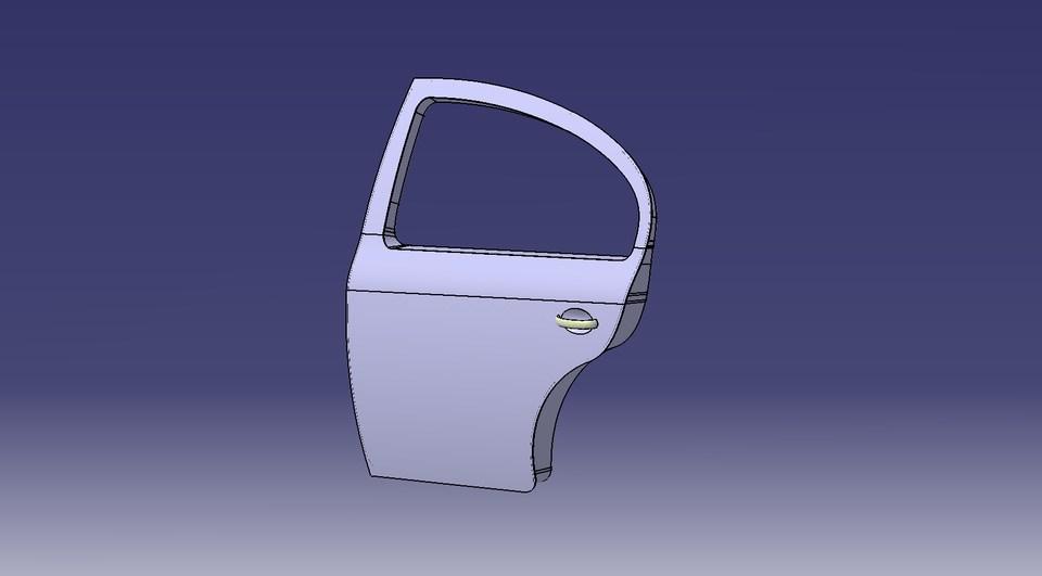 car door 3d cad
