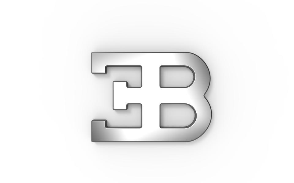 bugatti logo 2 3d