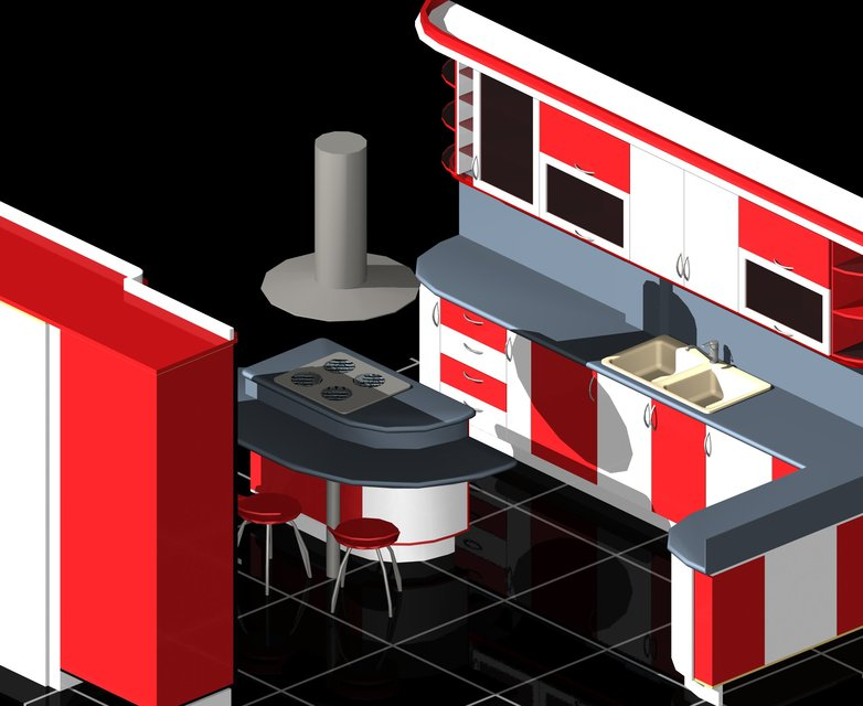 modular kitchen auto cad