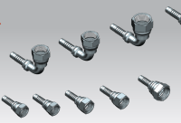 JIC PIPE FITTINGS | 3D CAD Model Library | GrabCAD