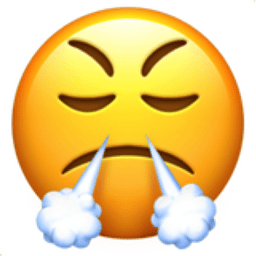 Face with Steam from Nose Emoji U1F624