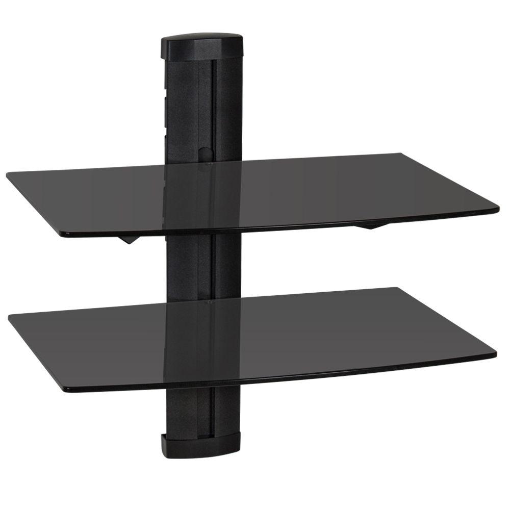 details sur support mural tv muraux etagere murale lecteurs dvd hifi tablettes meuble noir