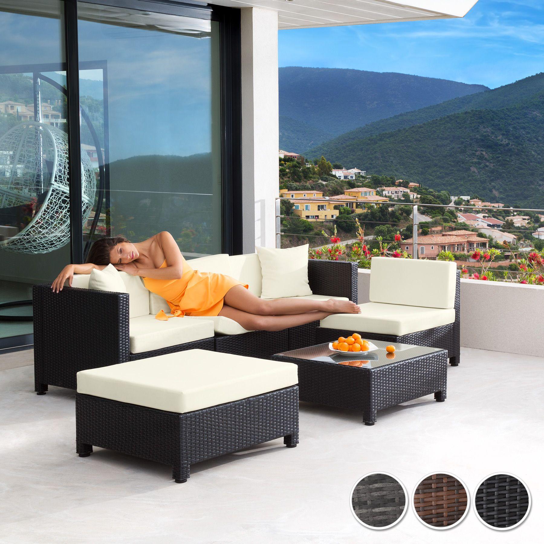 Poly Rattan Aluminium Sofa Sitzgruppe Gartenmobel Lounge Mobel
