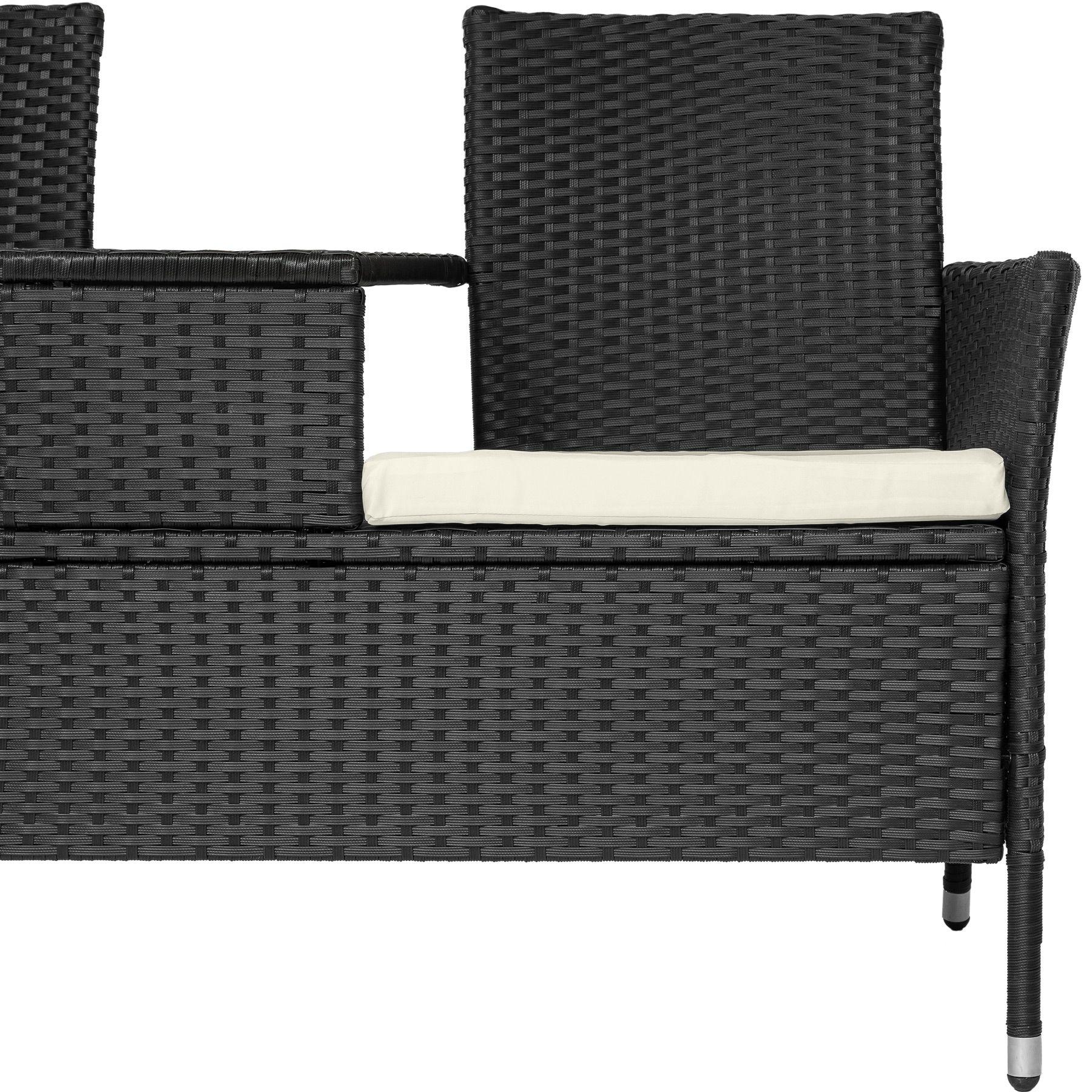 Rattan Lounge Bank Xenos Gartenmöbel Gartentische Gartenstühle