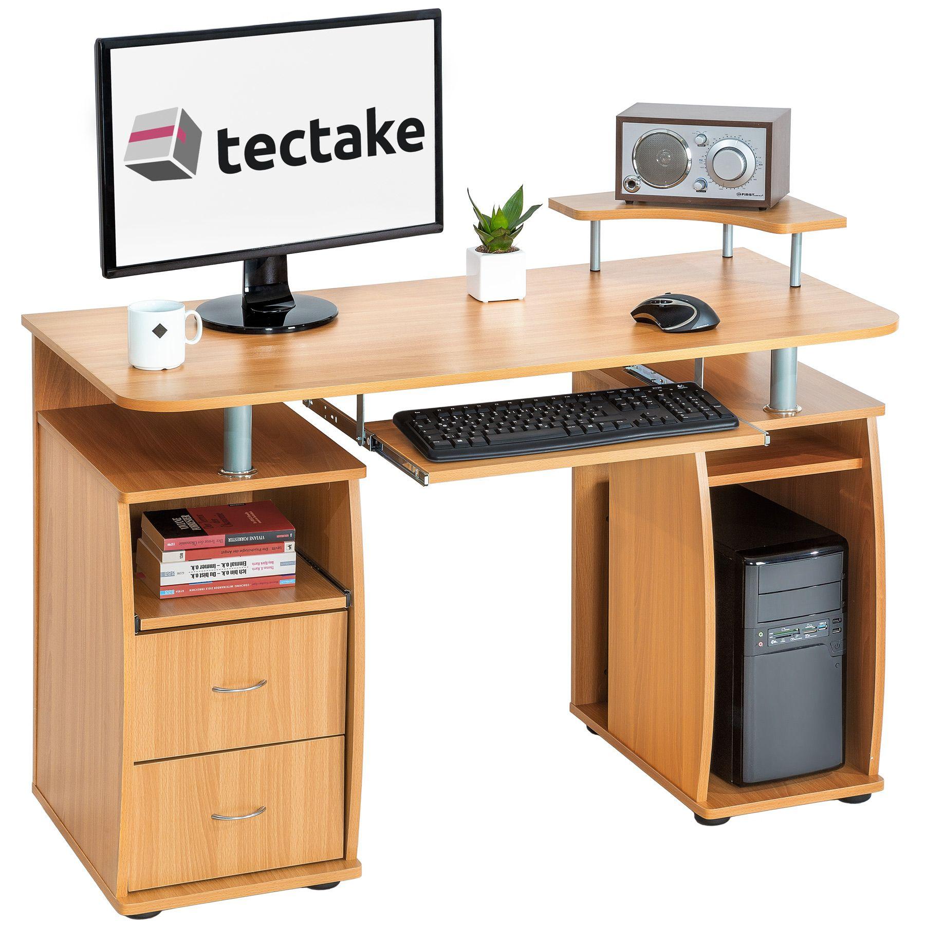 details sur bureau informatique table de l ordinateur travail mobilier meubles pc hetre