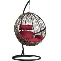Hanging Garden Pod Chair Uk Moon Chairs For Adults Swing With Standing Frame 43 Cushions Poly