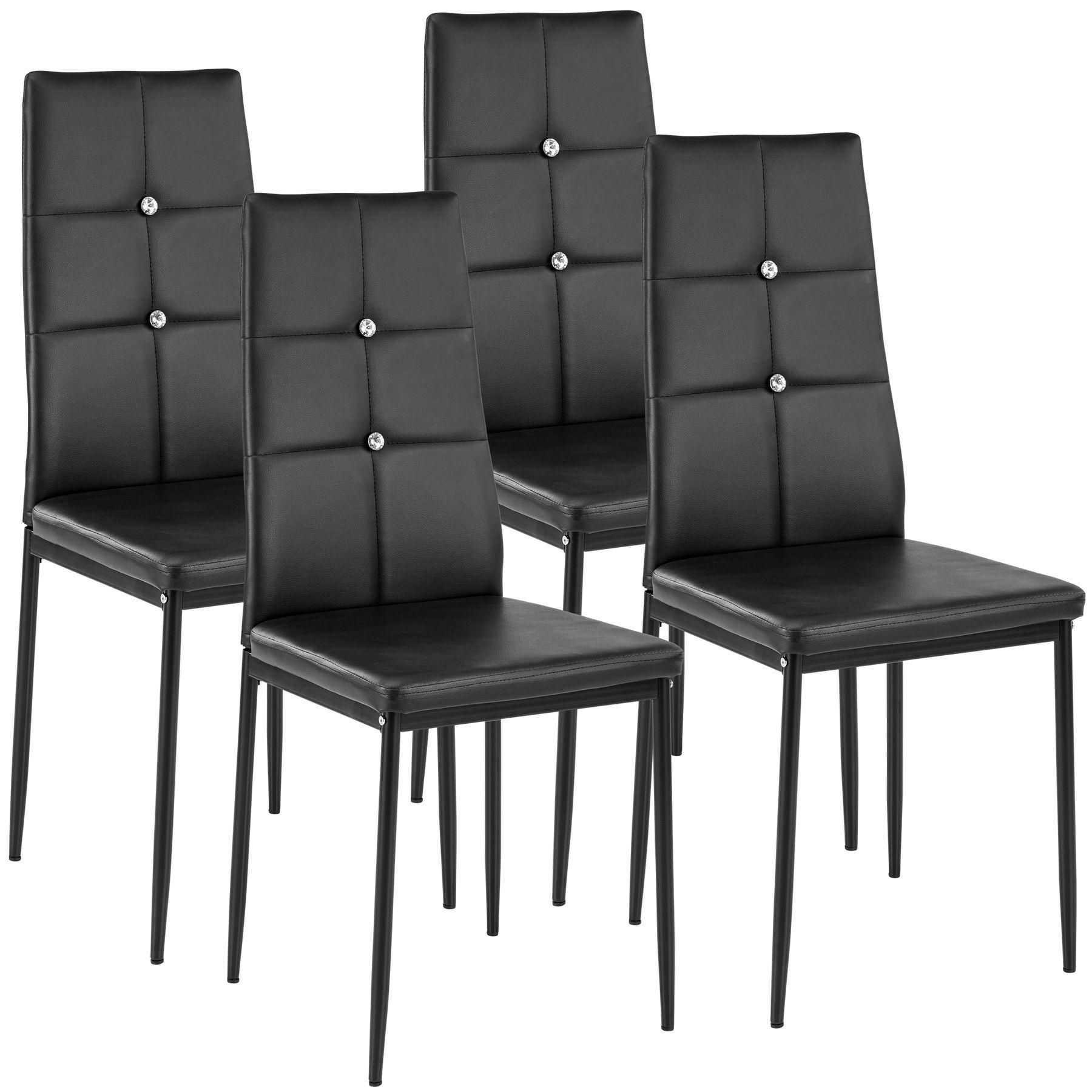 Set di 4 sedia per sala da pranzo tavolo cucina eleganti