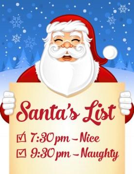 Santas list tile