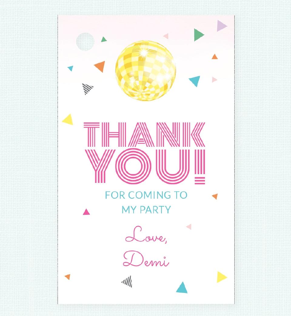 Disco Thank You Tag Love JK