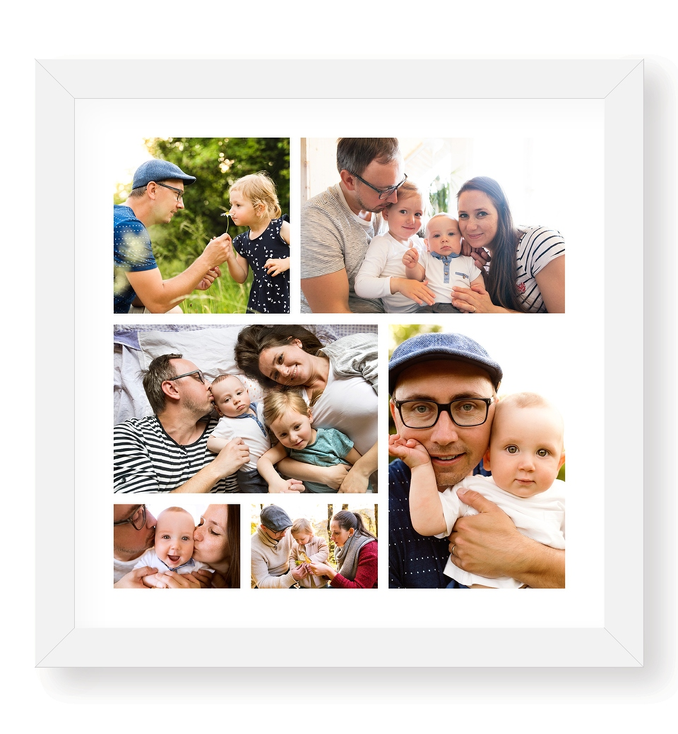 6 photo collage poster
