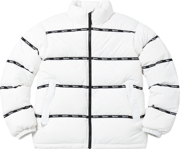 Logo Tape Puffy Jacket