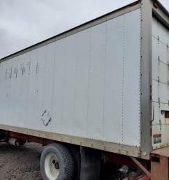 1990 21ft dry van box door has some wear no holes or damage to [ 1024 x 768 Pixel ]