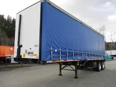 utility 32x102 tandem axle combination curtain side trailer spring fixed axle