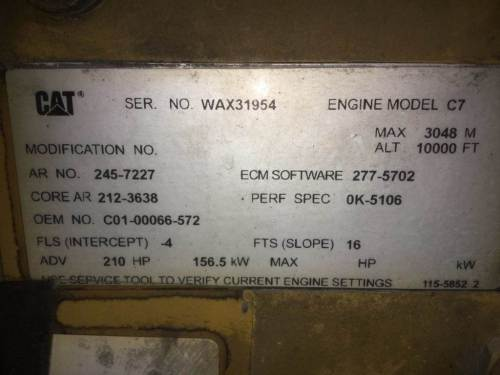 small resolution of 2007 caterpillar c7 engine for a freightliner m2 106