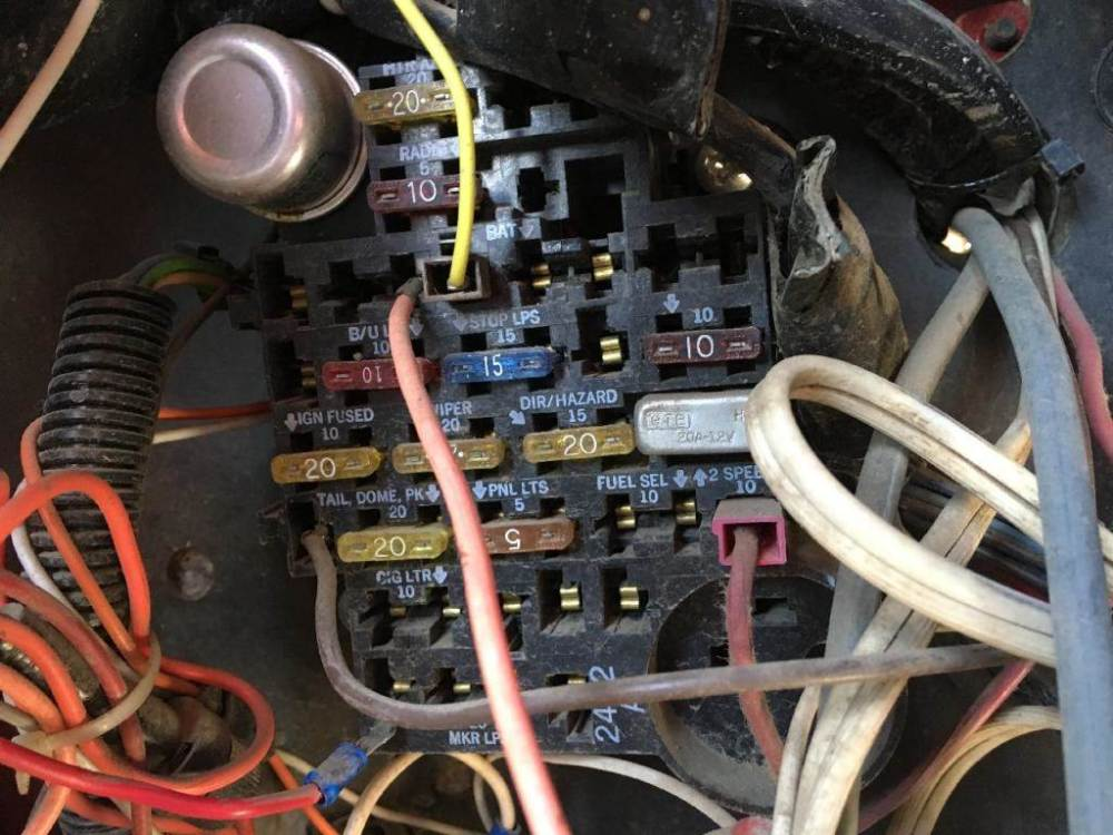 medium resolution of 1987 chevrolet c70 fuse box