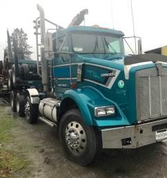 1996 kenworth t800 logging truck [ 1024 x 768 Pixel ]