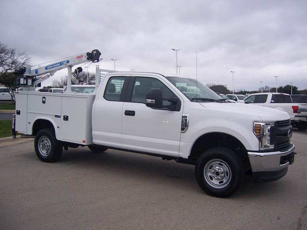 medium resolution of 2019 ford f 350 xl xl 4x4 super cab with knapheide service utility mechanics crane truck