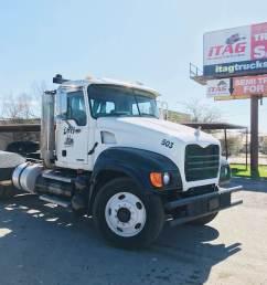 2007 mack granite cv713 day cab used semi truck 474 068 miles [ 1024 x 768 Pixel ]