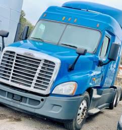 2014 freightliner cascadia sleeper semi truck 10 speed manual dd13 engine [ 1024 x 768 Pixel ]