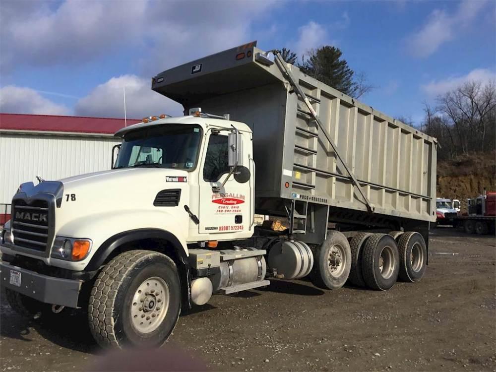 medium resolution of 2005 mack granite cv713 tri axle dump truck 460hp 18 spd