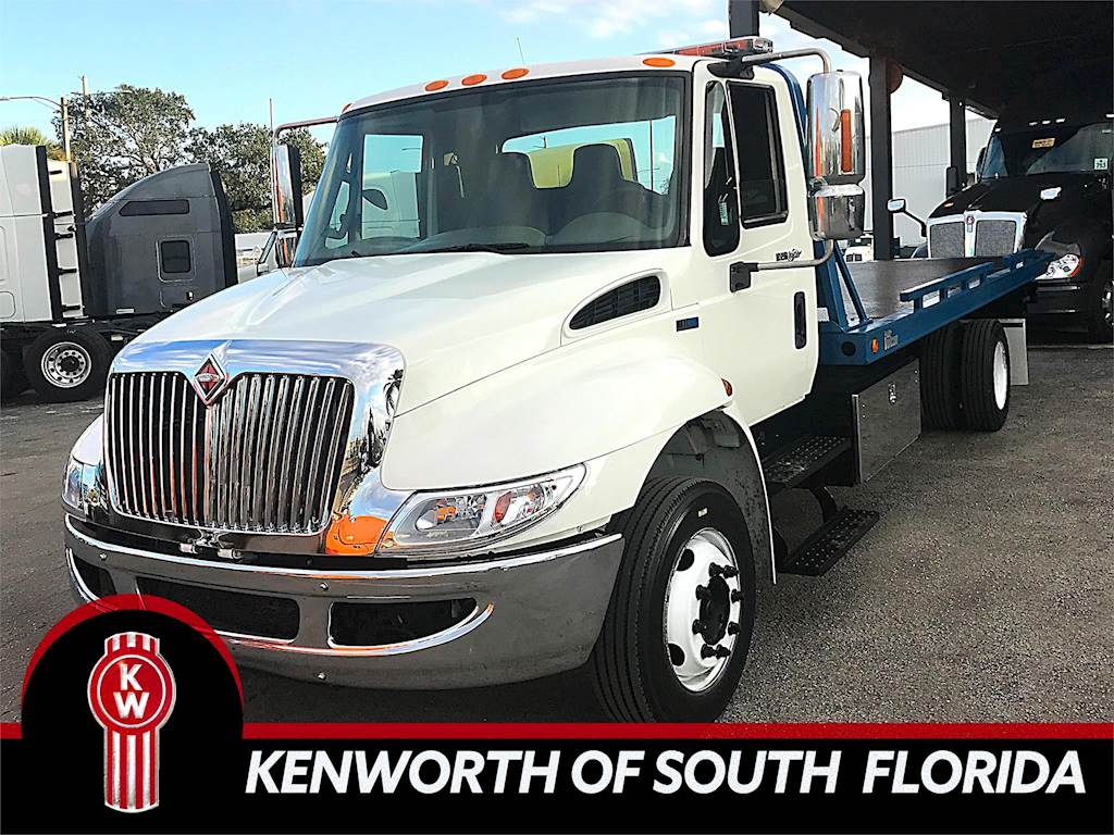 hight resolution of 2012 international 4300 single axle rollback truck dt466 automatic