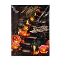 Timeless by Design Lighted Halloween Stairway Canvas