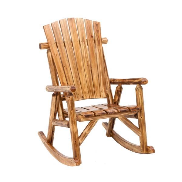 Jack Post Toasted Log Oversized Rocking Chair