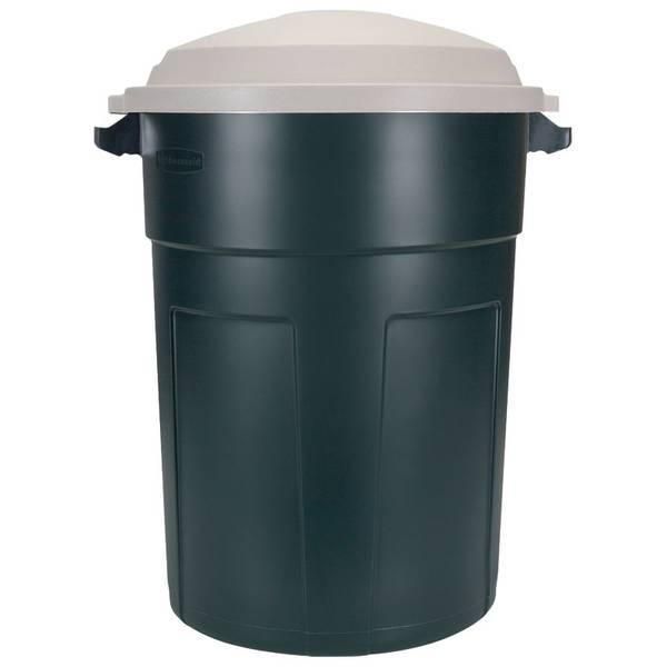 Round Waste Cans Wheels