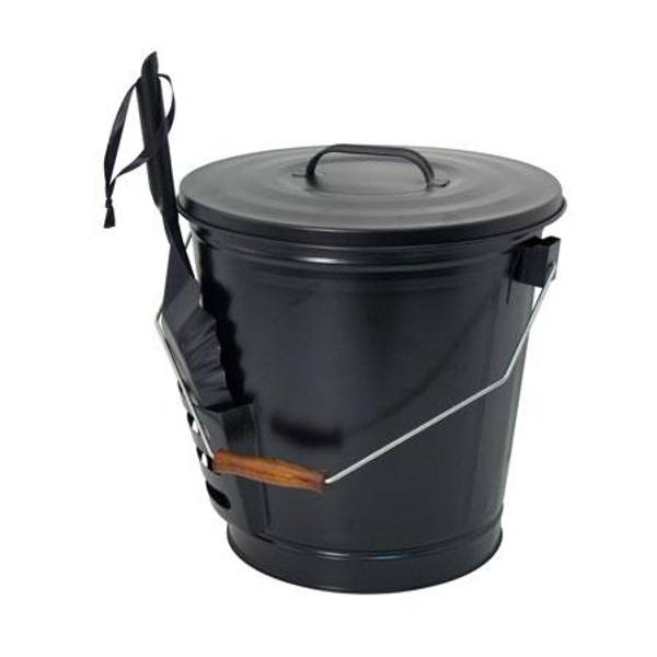 Open Hearth Collection Fireplace Ash Bucket with Shovel
