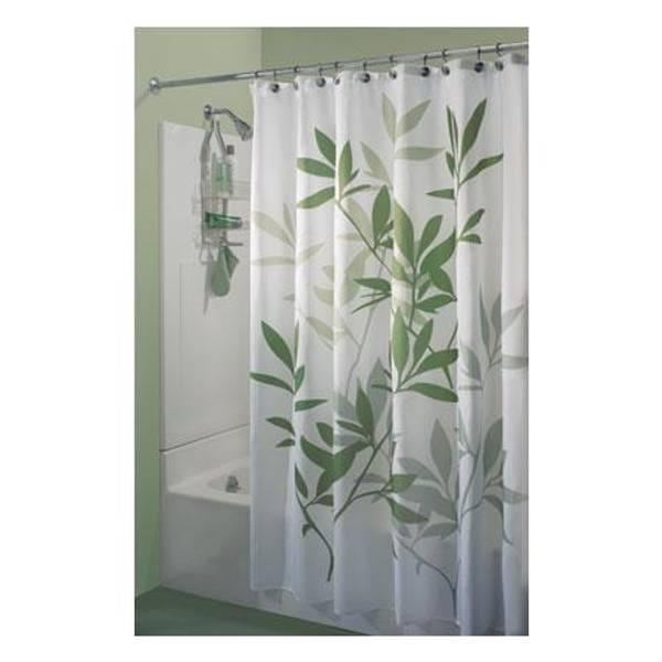 InterDesign Green Leaves Shower Curtain