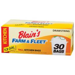 Tall Kitchen Bags Pegasus Sinks Blain S Farm Fleet 13 Gallon Drawstring