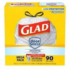 Glad Kitchen Bags Moveable Islands Tall Drawstring Garbage