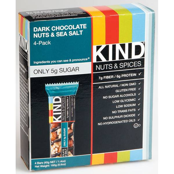 Kind Plus Dark Chocolate Nuts amp Sea Salt Bars