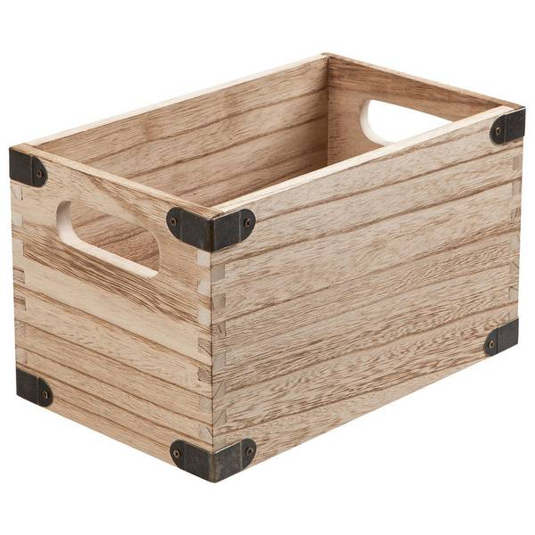 Basketville Paulownia Wood Cd Storage Bin