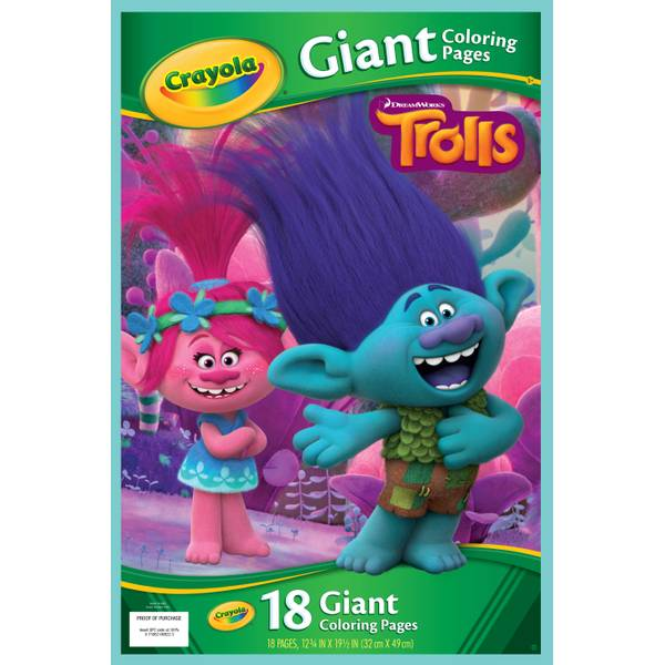 crayola trolls giant coloring pages