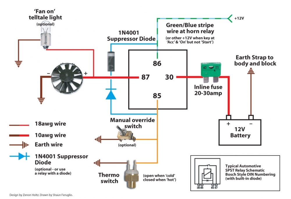 electric fan relay wiring diagram, Wiring diagram