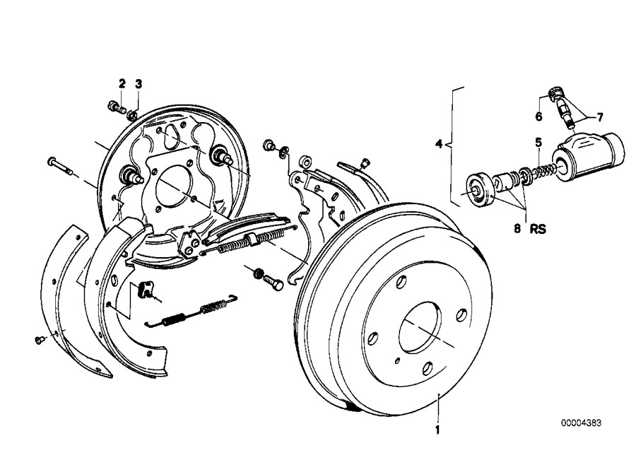 Service manual [2004 Bmw 525 Brake Drum Structure