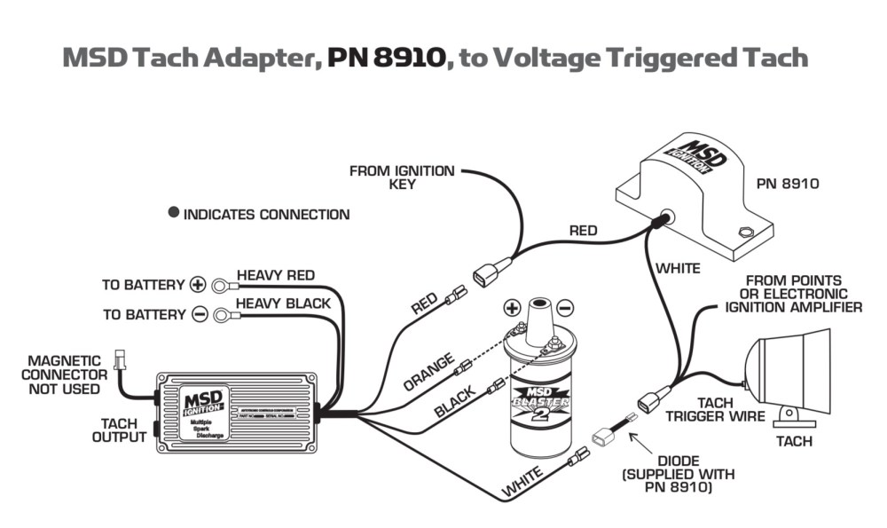 medium resolution of sunpro tach adapter msd tach msd distributor wiring