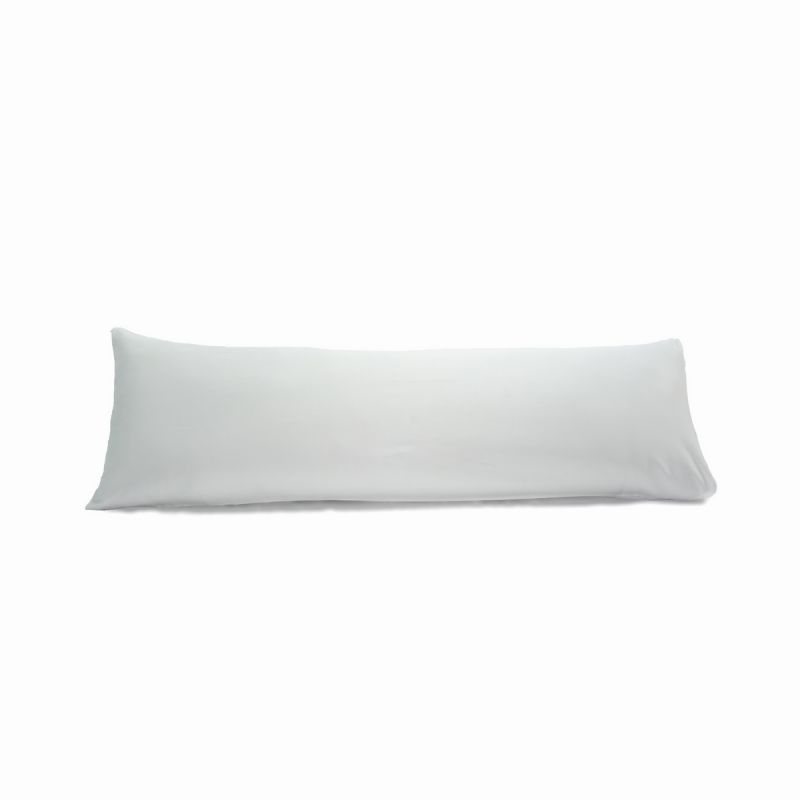 400tc sateen solid cotton body pillowcases set of 2