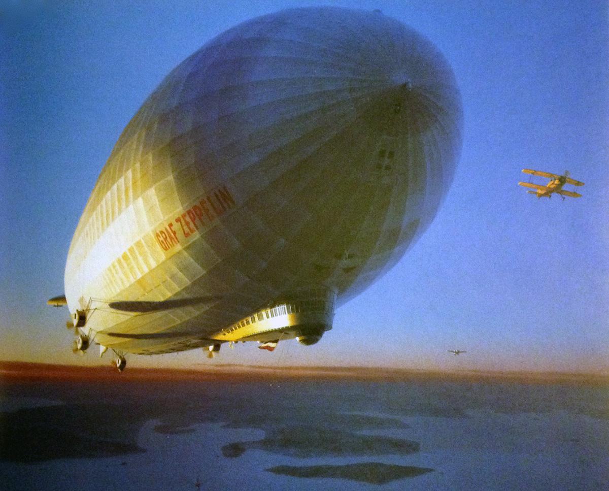 Zeppelin Around The World Shirt Dark