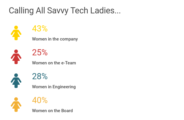 Stats on women in tech roles at Moz