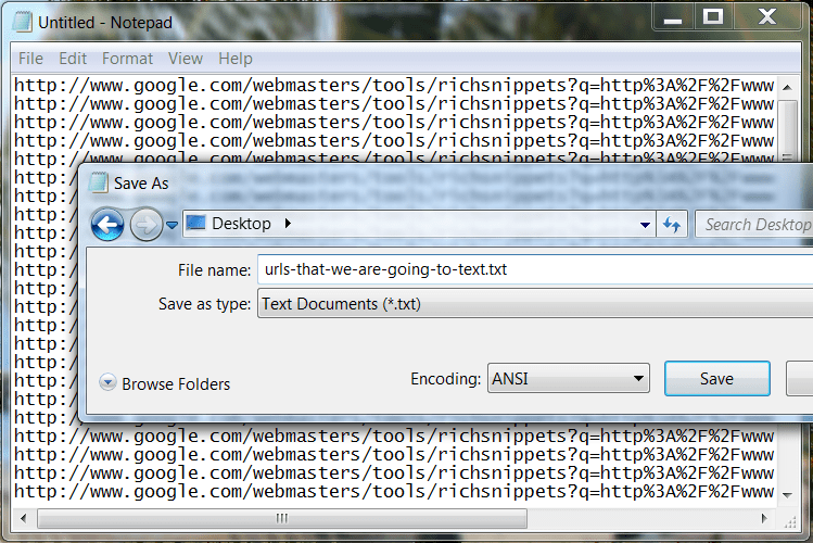 Step 4 - Paste into TXT File