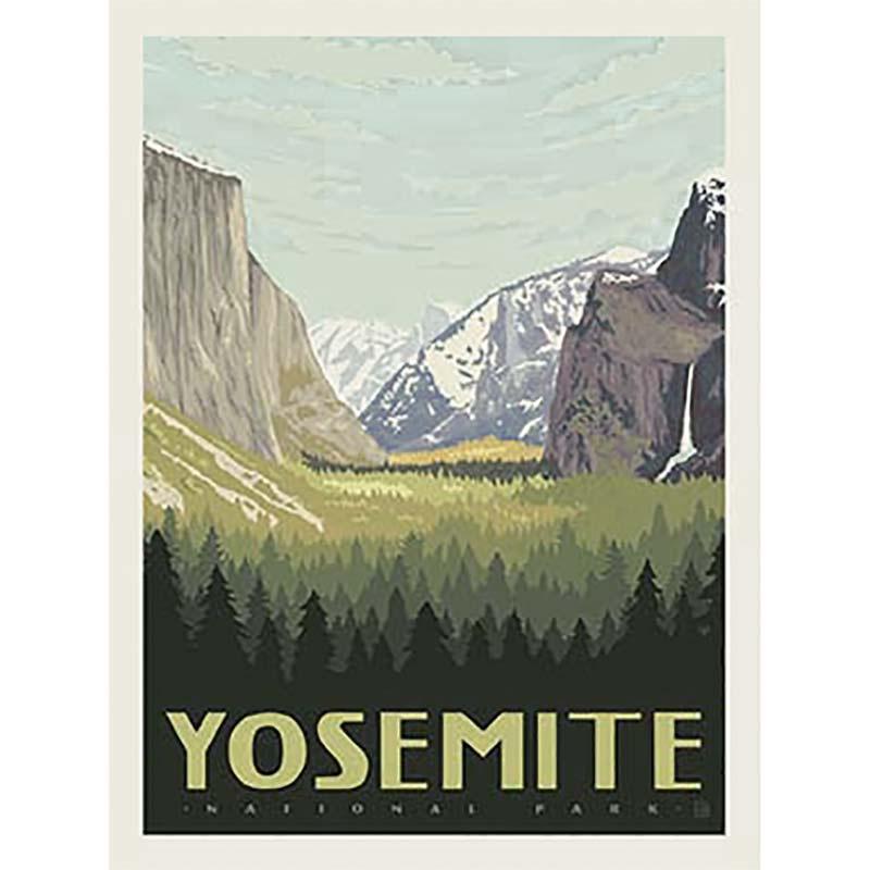 national parks yosemite poster panel