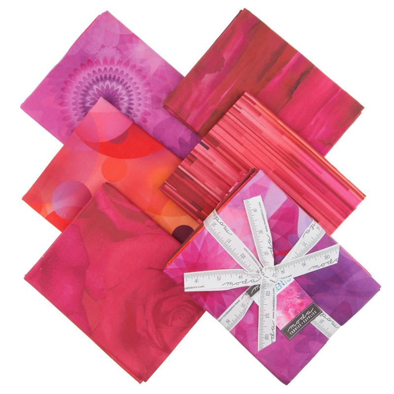 Gradients Pink Digitally Printed One Yard Bundle Moda