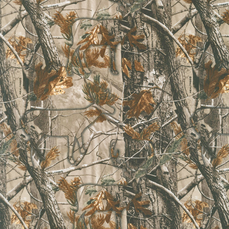 realtree hidden animals brown