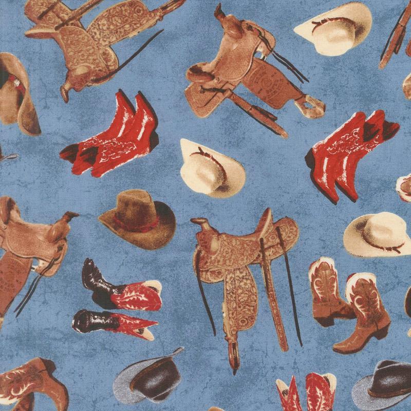 Mountain Pass - Cowboy Stuff Water Yardage Whistler Studios Windham Fabrics