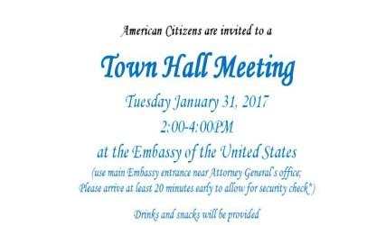 hall town meeting invitation message eritrea citizens citizen january american america embassy asmara 2pm december states united